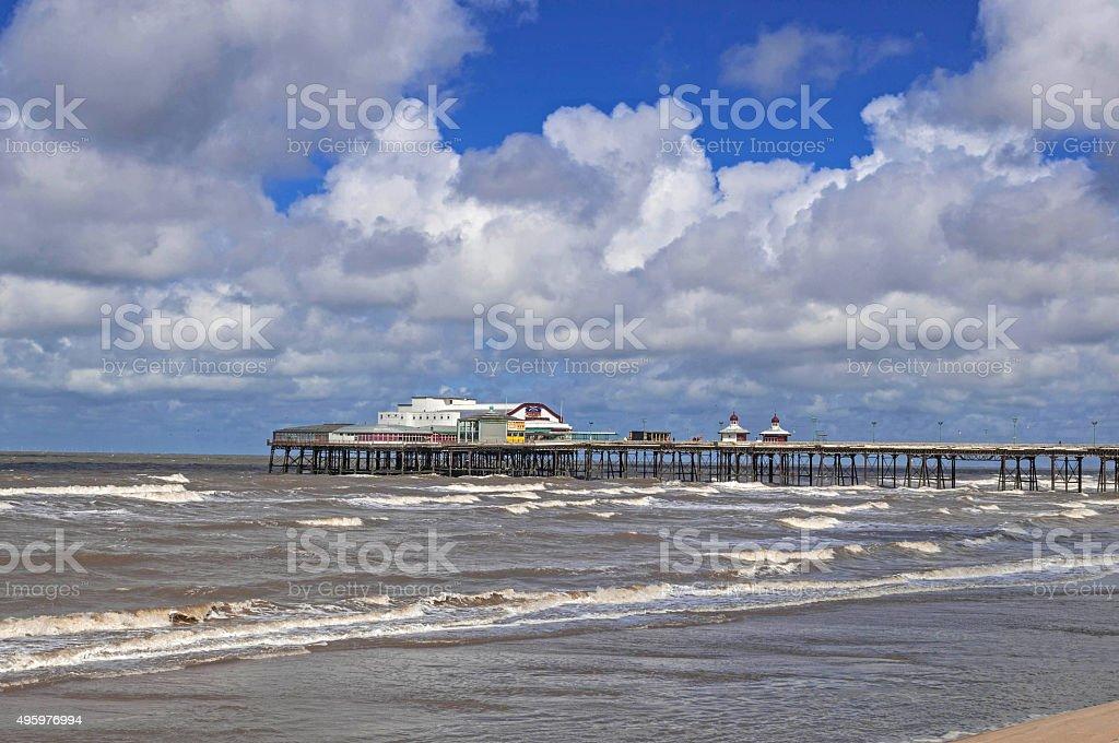 Blackpool North Pier stock photo