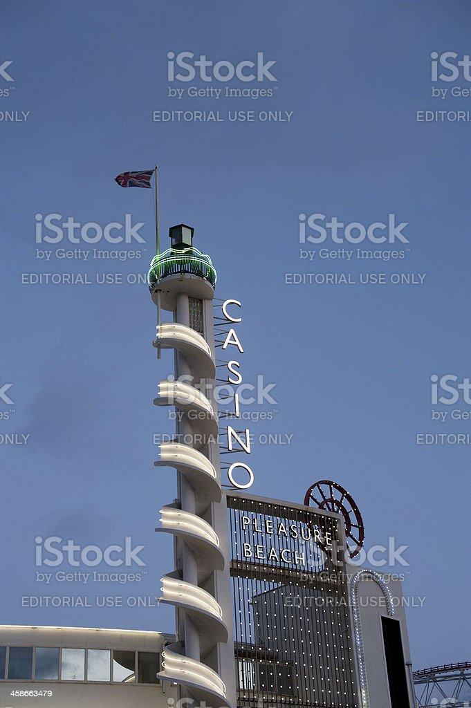Blackpool Pleasure Beach's Casino stock photo
