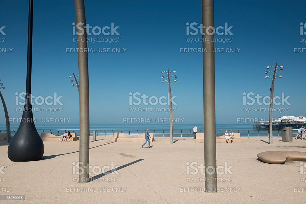 Blackpool redevoloped seafront royalty-free stock photo