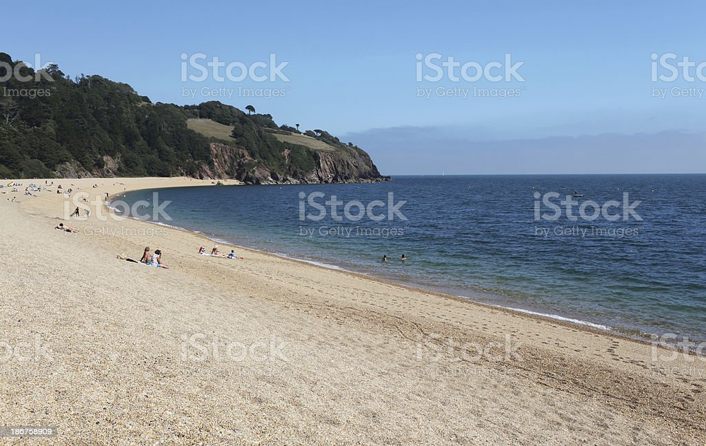 Blackpool sands beach devon stock photo