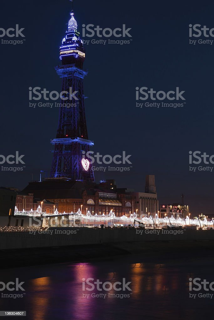 Blackpool Tower and Golden Mile stock photo