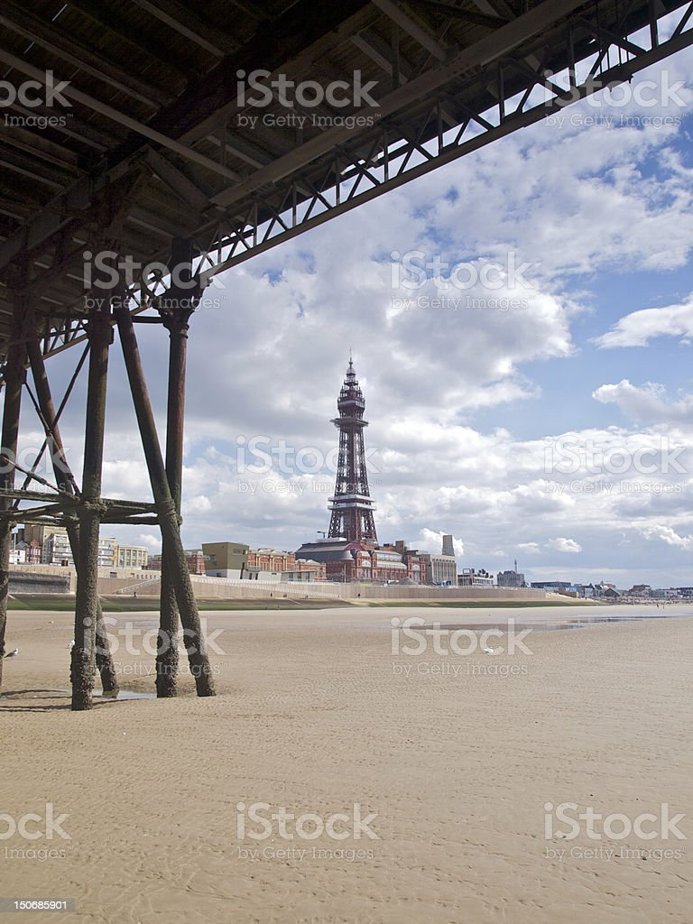 Blackpool Tower Restoration royalty-free stock photo