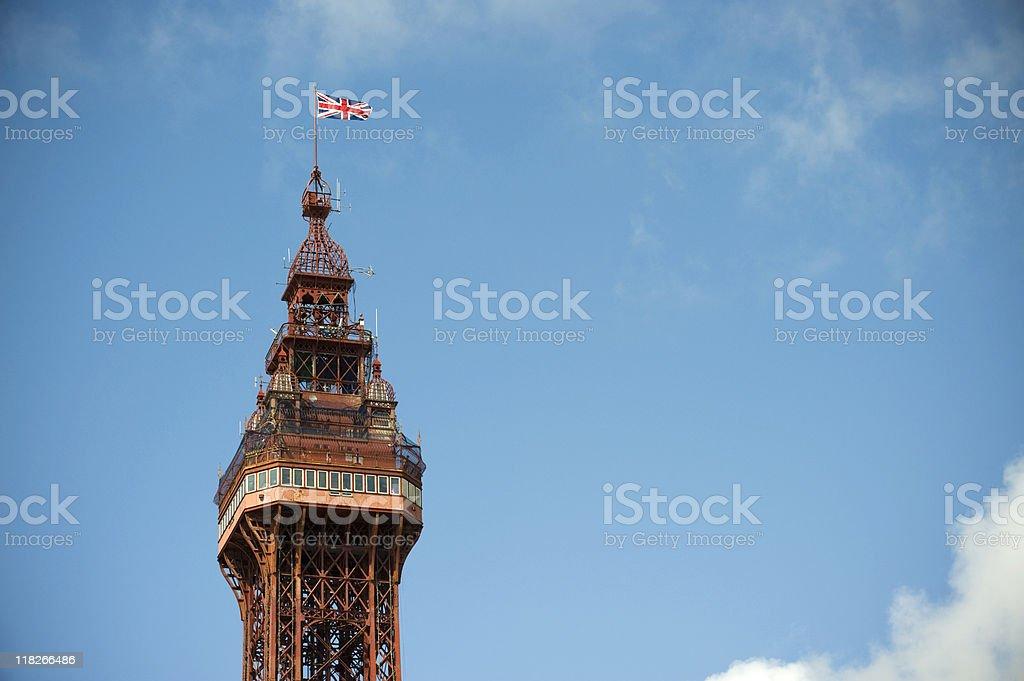 Blackpool Tower Top stock photo