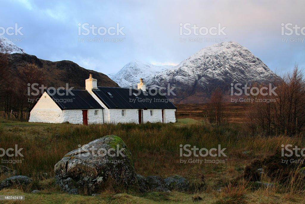 Blackrock Cottage, Glencoe. royalty-free stock photo