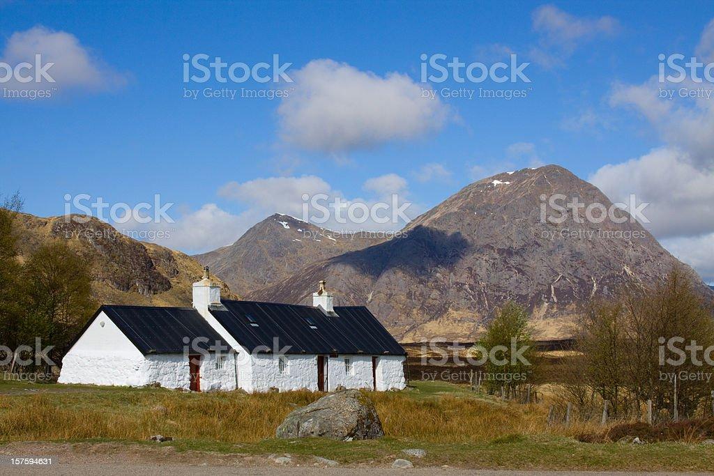 Blackrock Cottage, Glencoe, Scotland. stock photo