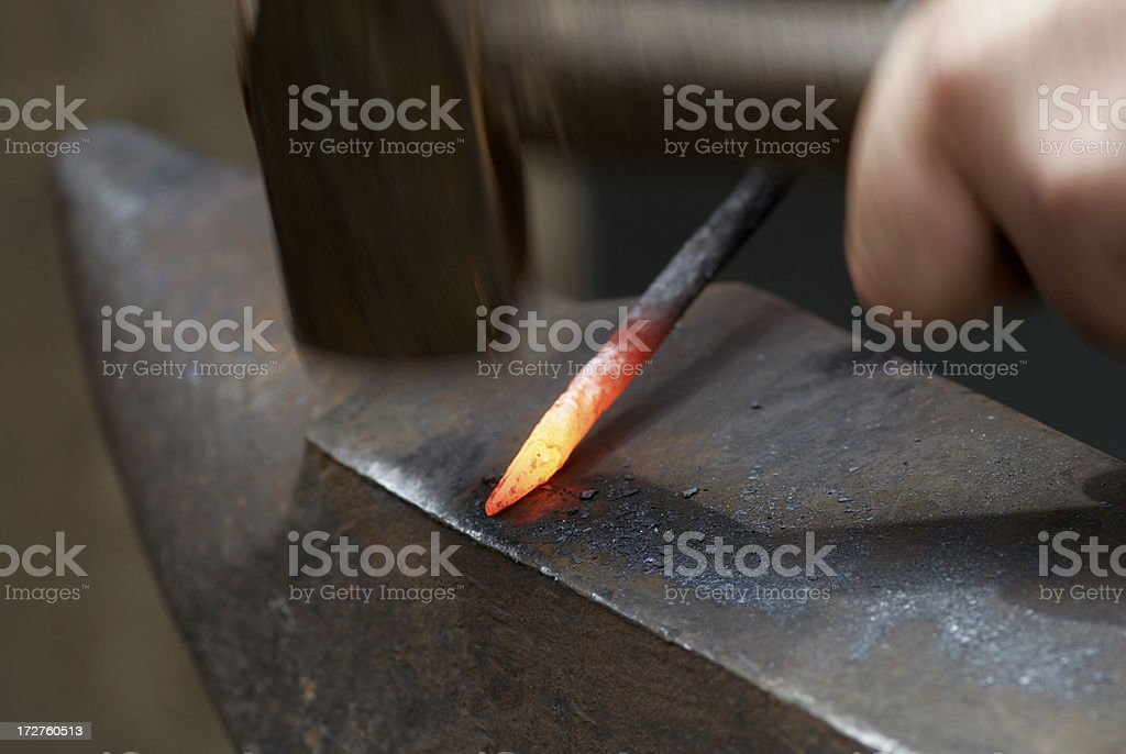 Blacksmisth´s Hand royalty-free stock photo