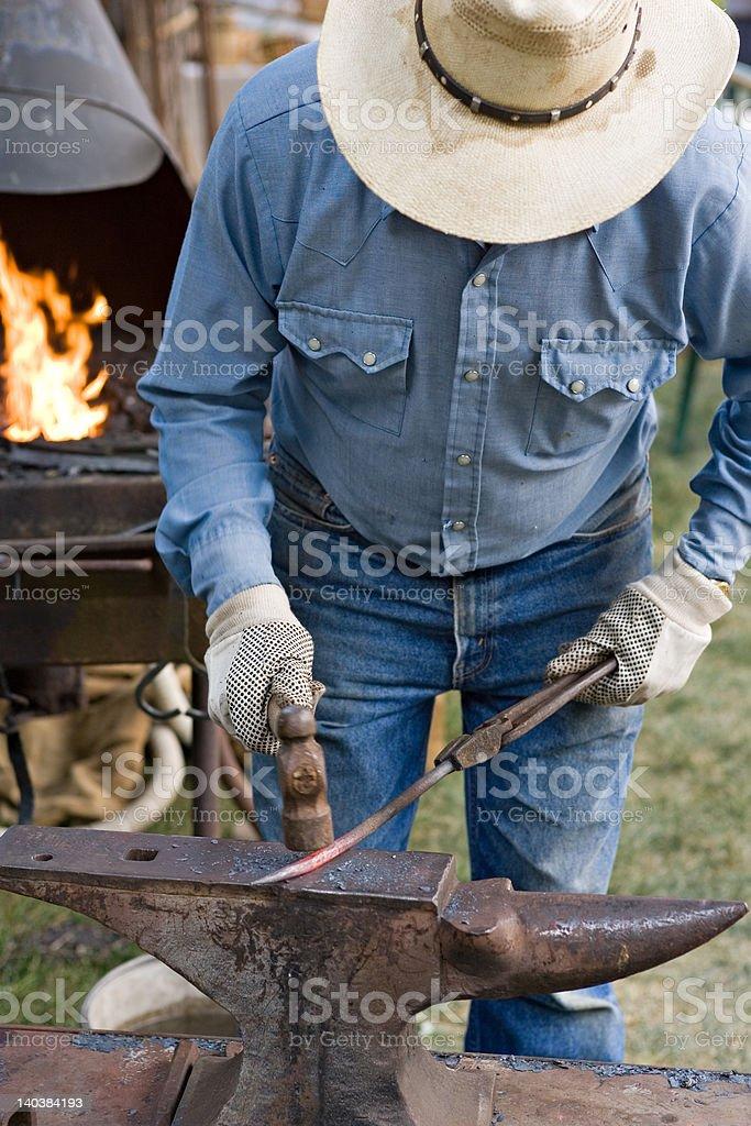 Blacksmith and Anvil stock photo