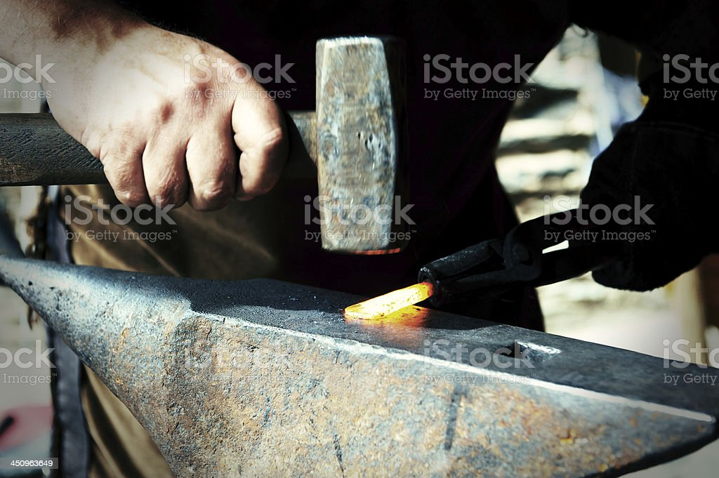 Blacksmith at work royalty-free stock photo
