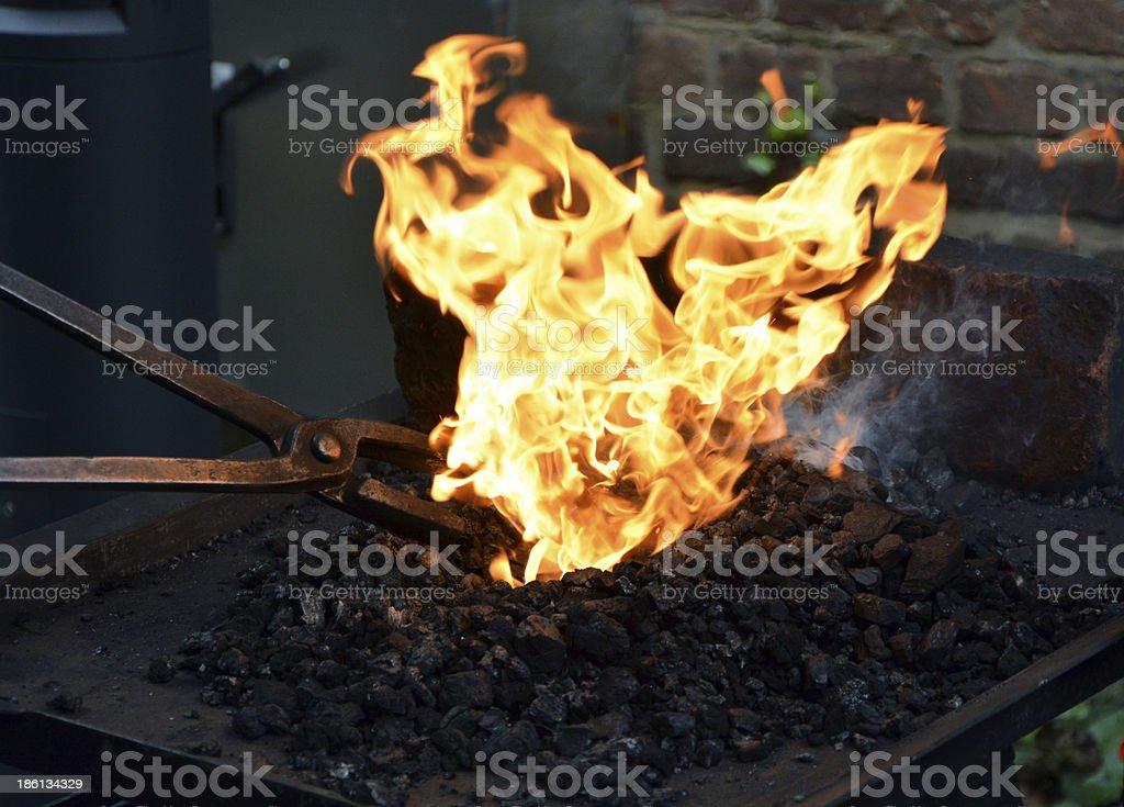 blacksmith at working process royalty-free stock photo