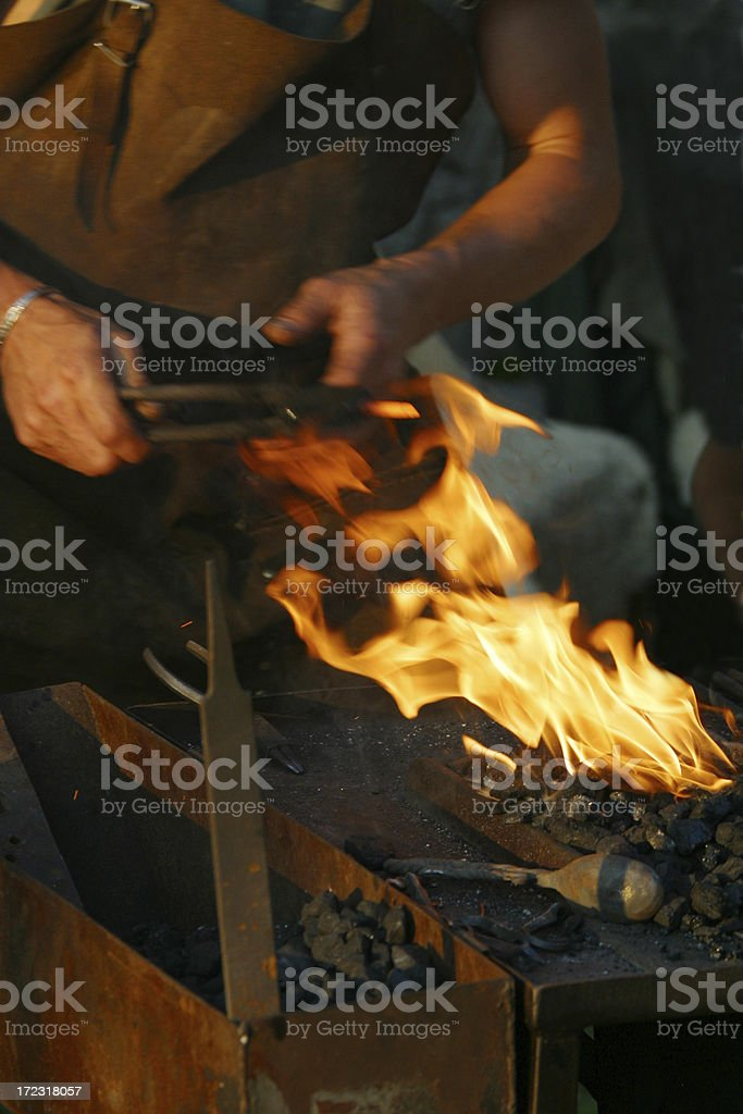 blacksmith fire royalty-free stock photo