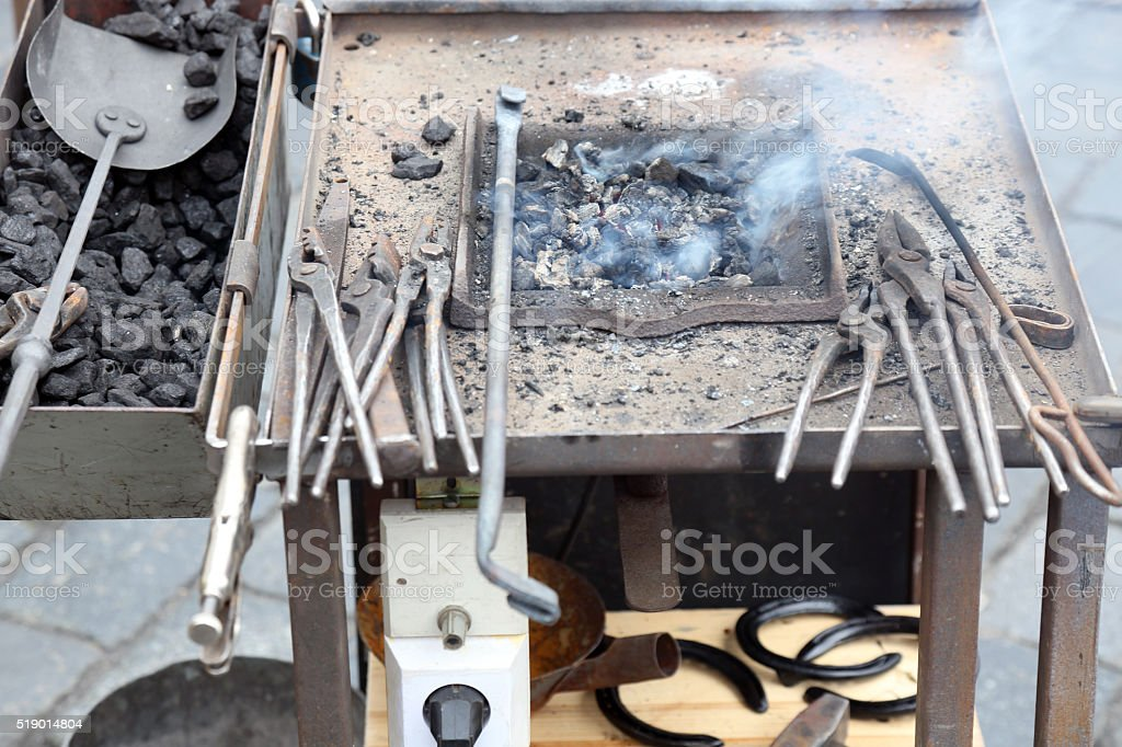 Blacksmith shop stock photo