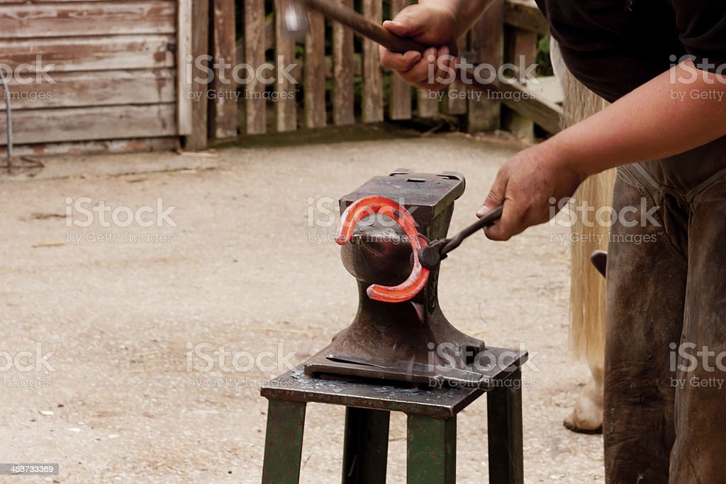 Blacksmith/farrier at work royalty-free stock photo