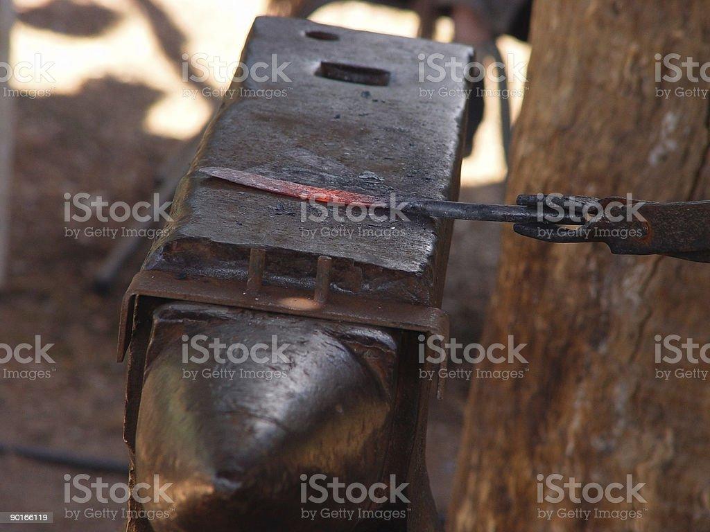 blacksmithing anvil stock photo