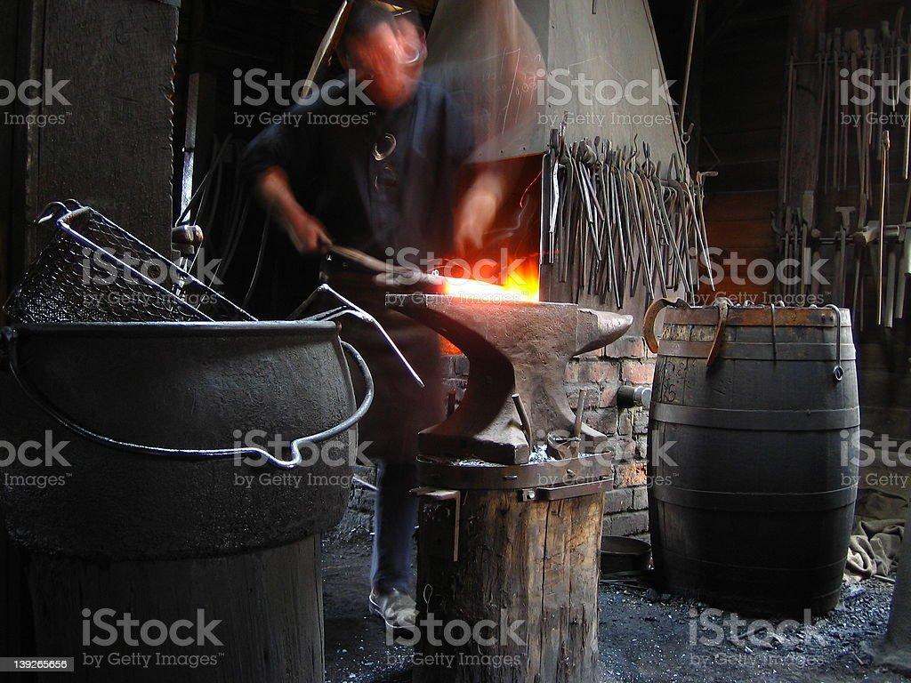 Blacksmithing royalty-free stock photo