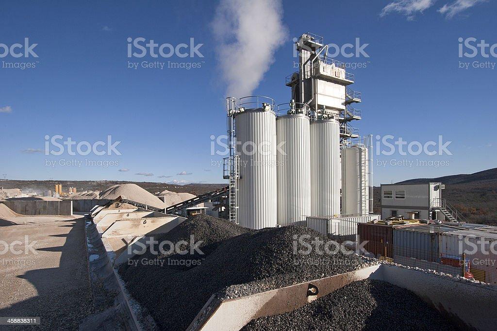 Blacktop factory stock photo