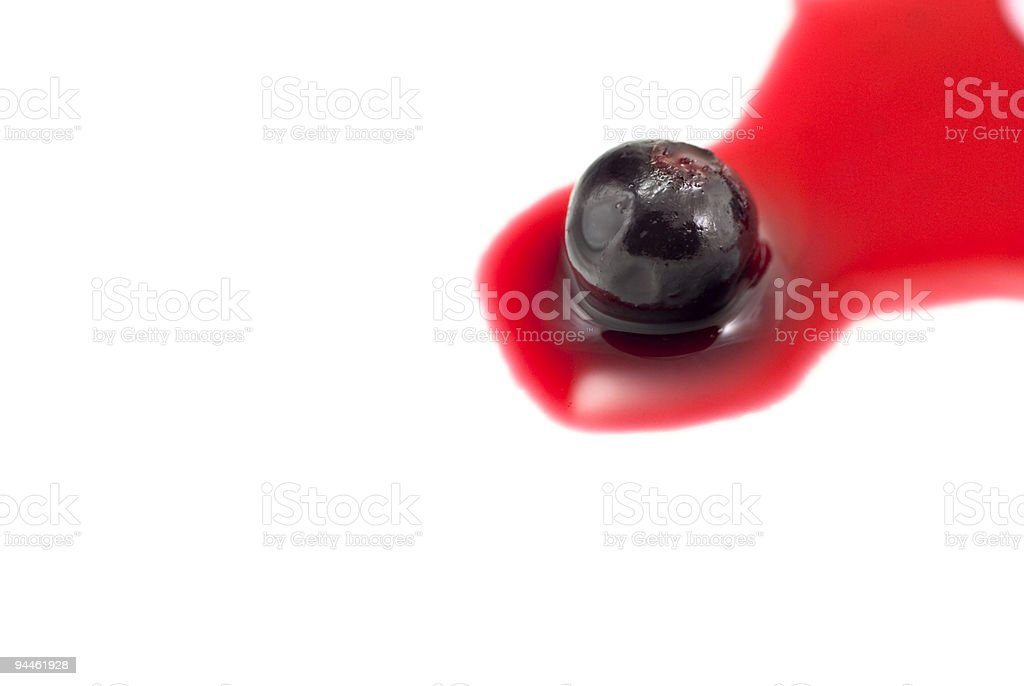Blackurrant in Red Juice - Isolated Closeup stock photo