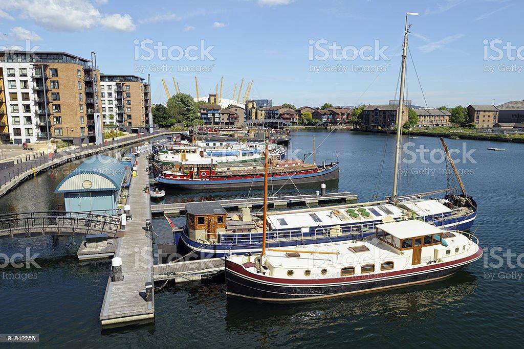 Blackwall Basin Docklands London England UK stock photo