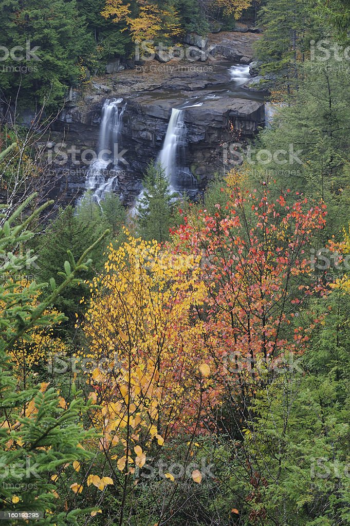 Blackwater Falls State Park in Autumn stock photo