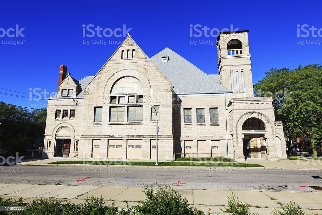Blackwell Memorial AME Zion Church, Grand Boulevard, Chicago stock photo