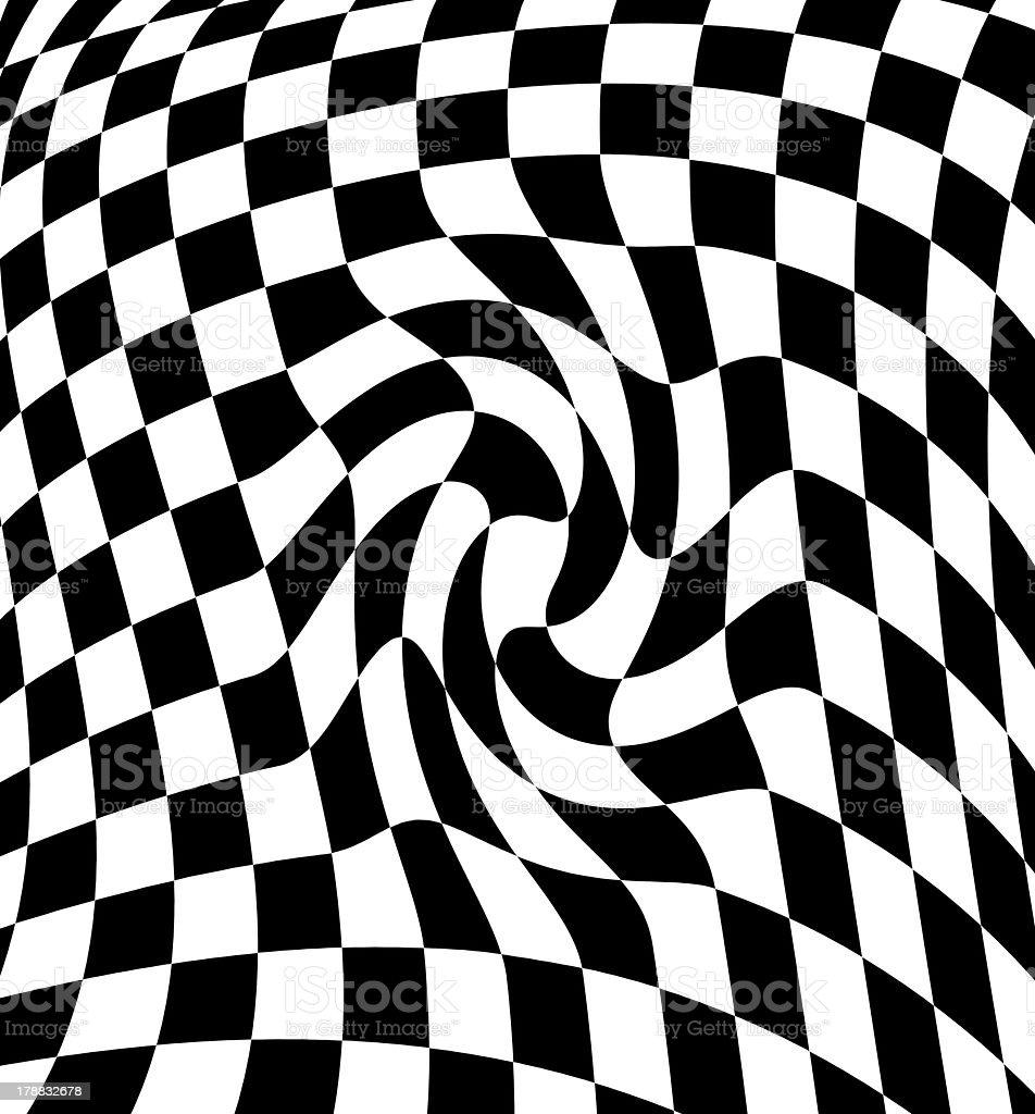 Black-white  checkered plane stock photo