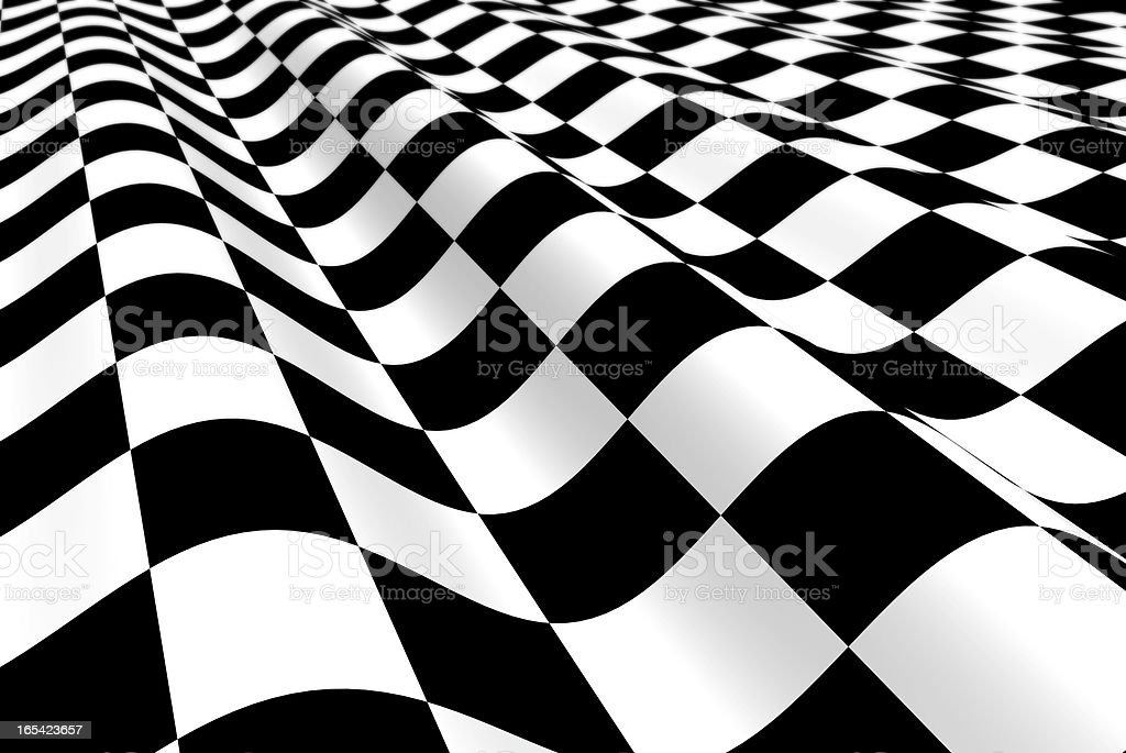 Black-white plane with wave royalty-free stock photo