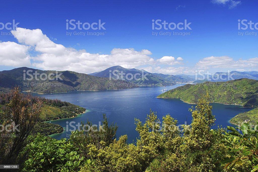 Blackwood Bay, Marlborough, NZ stock photo