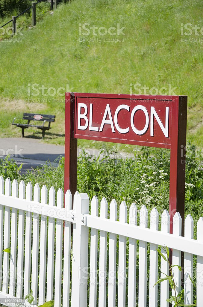 Blacon Sign by White Fence royalty-free stock photo