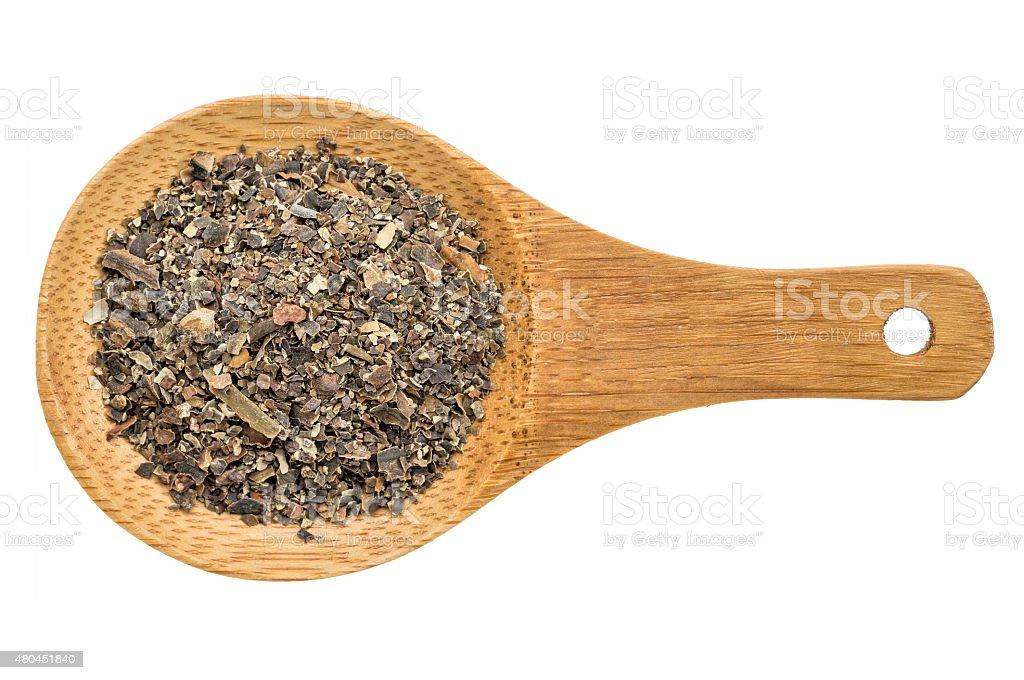 bladderwrack seaweed - isolated spoon stock photo