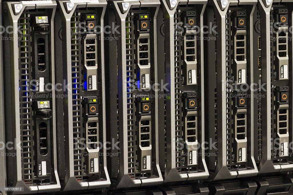 Blade Servers stock photo