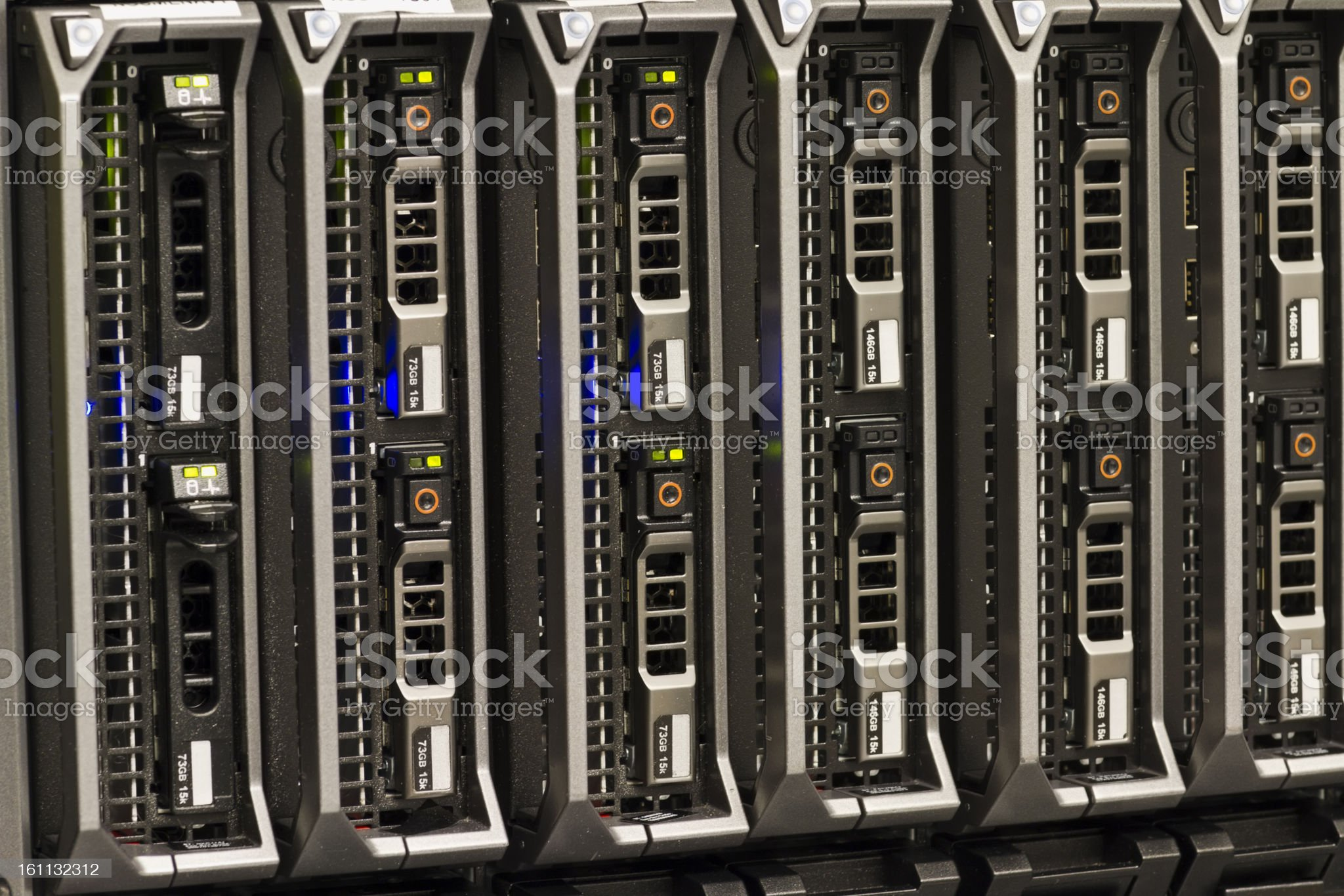 Blade Servers royalty-free stock photo