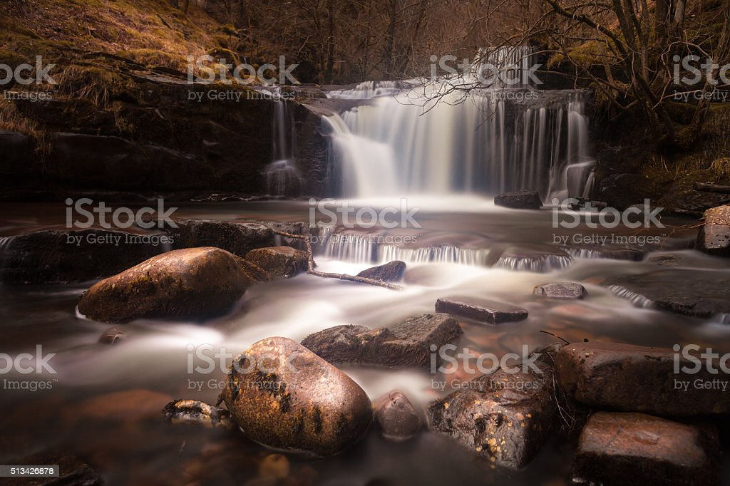 Blaen y Glyn Waterfalls stock photo