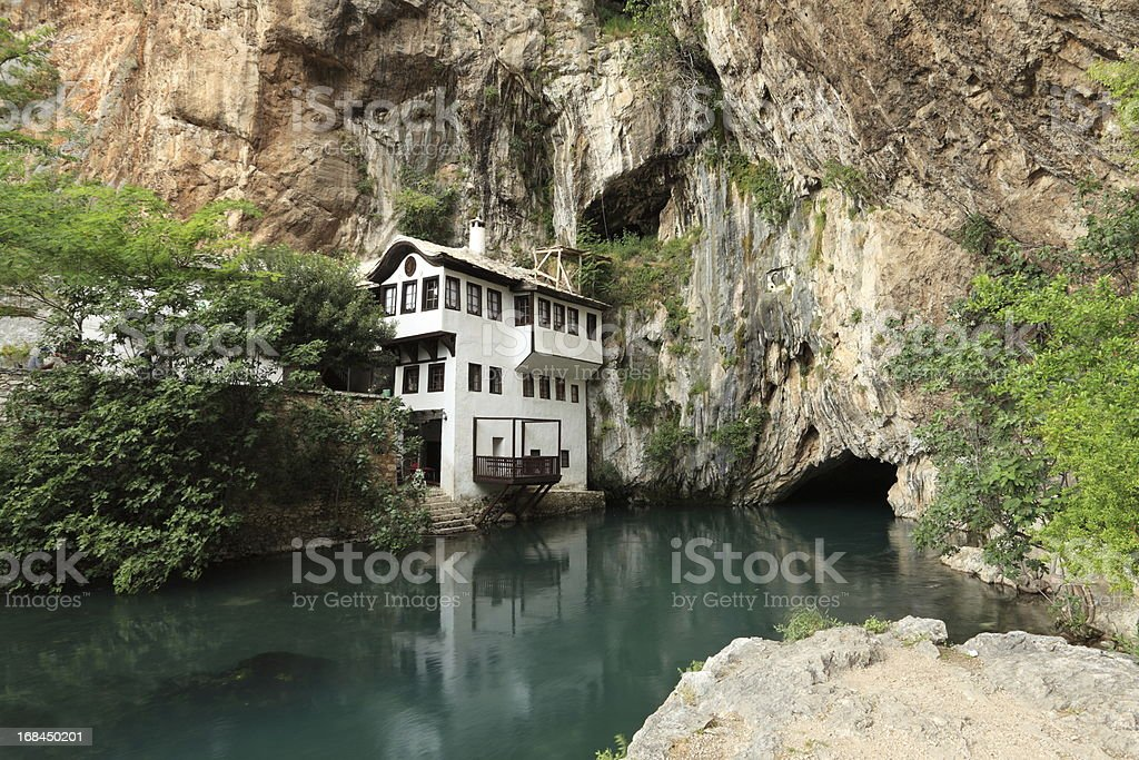 Blagaj - Buna, largest river source in Europe stock photo
