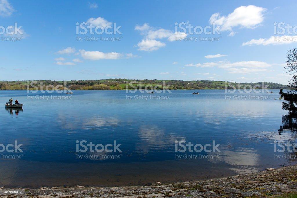 Blagdon Lake Somerset England UK stock photo