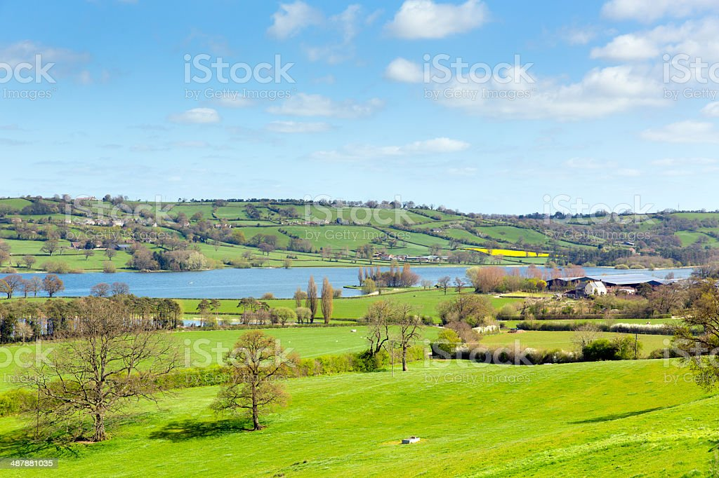 Blagdon Lake Somerset England UK south of Bristol stock photo