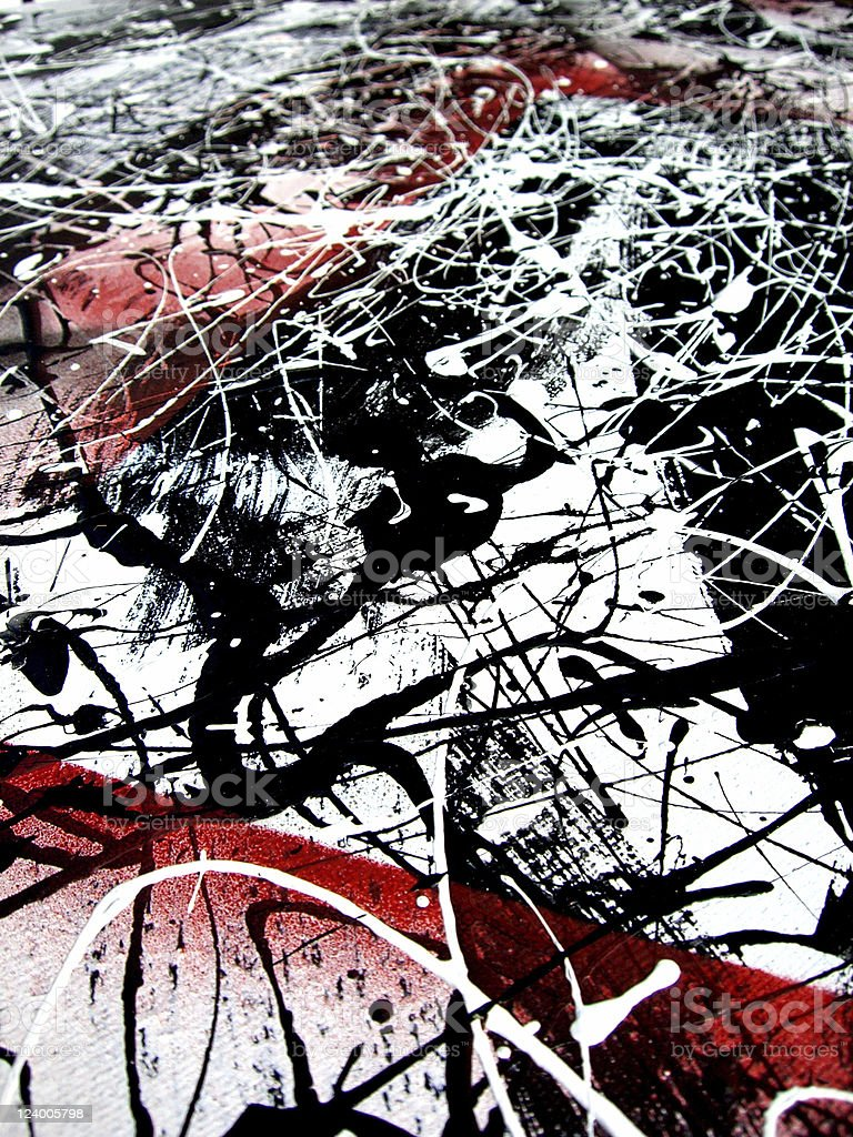 Blak and White Abstract Bkg stock photo