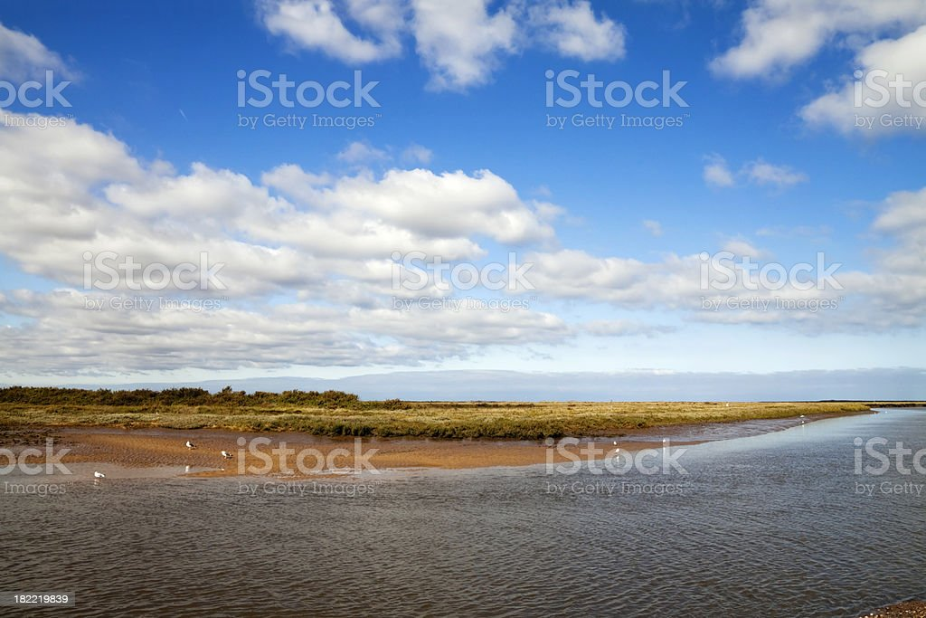 Blakeney salt marshes stock photo