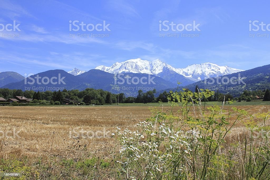 Mont-Blanc royalty-free stock photo