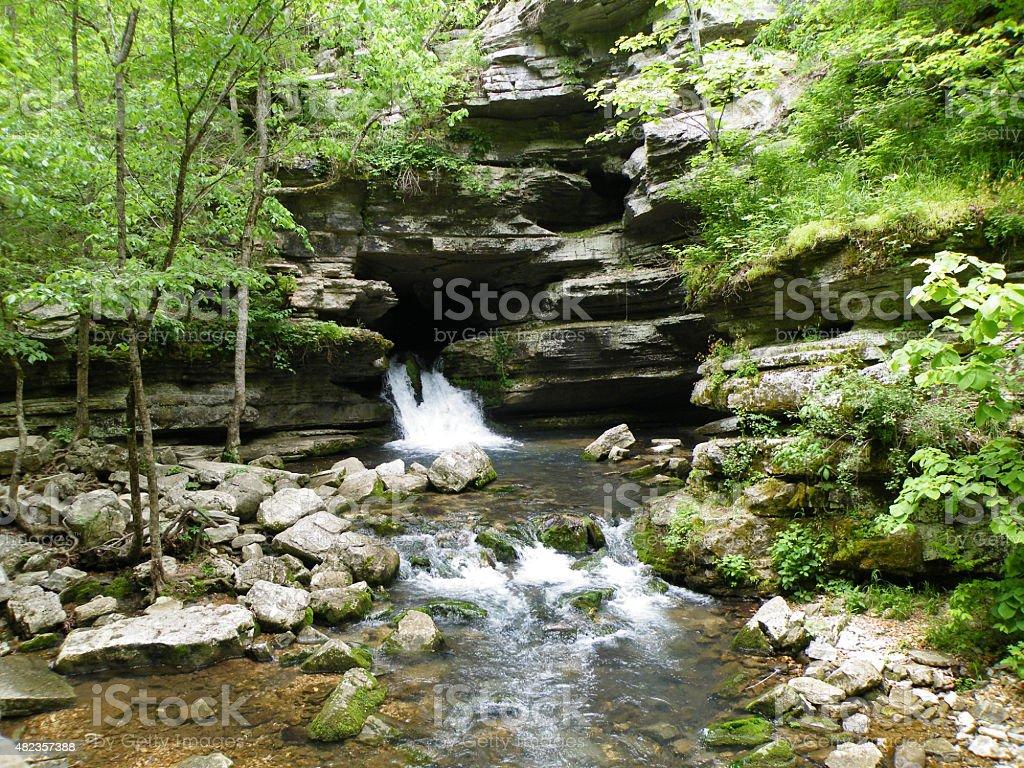 Blanchard Springs Cavern Arkansas stock photo