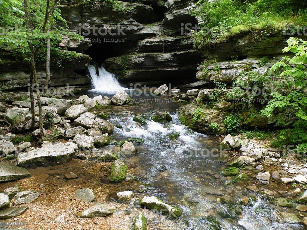 Blanchard Springs Caverns Arkansas stock photo