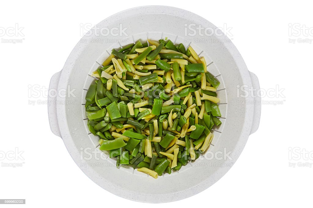 Blanchierte Bohnen stock photo