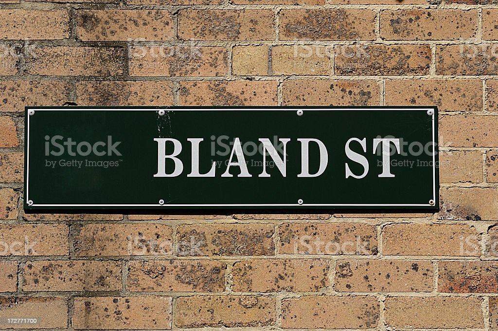 Bland St royalty-free stock photo