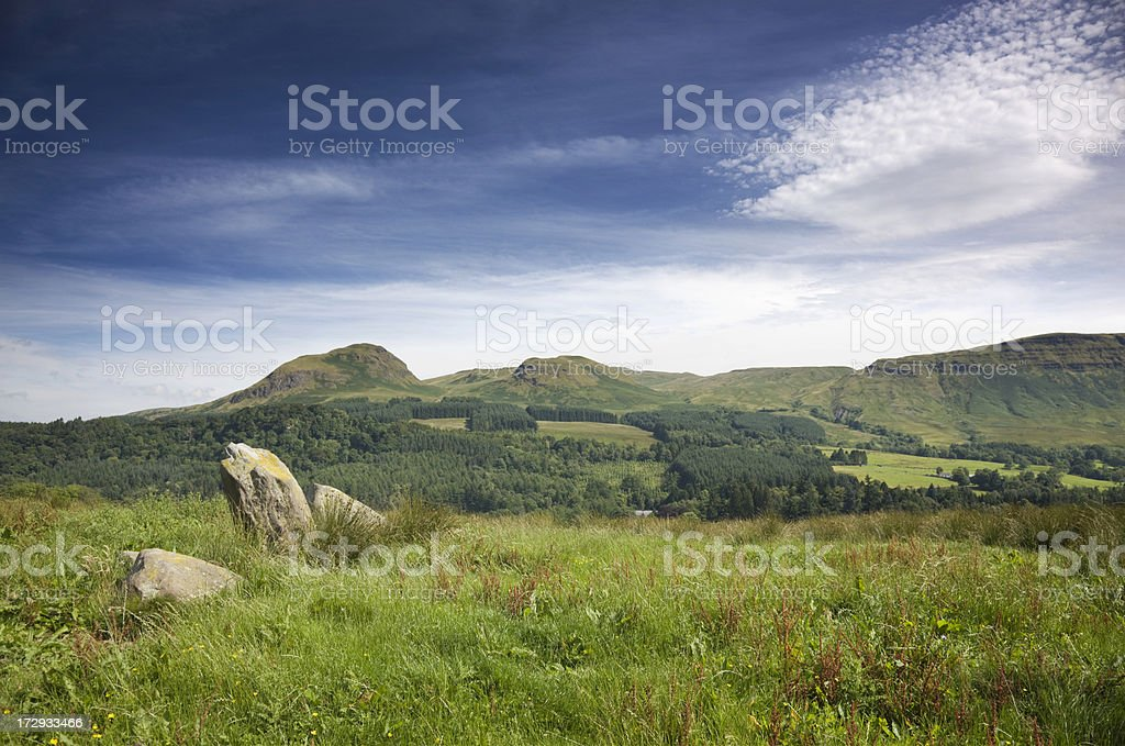 Blanefield Standing Stones royalty-free stock photo