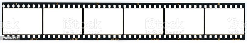 Blank 35MM film strip stock photo