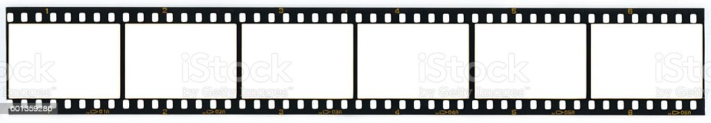 Blank 35MM film strip stock photo