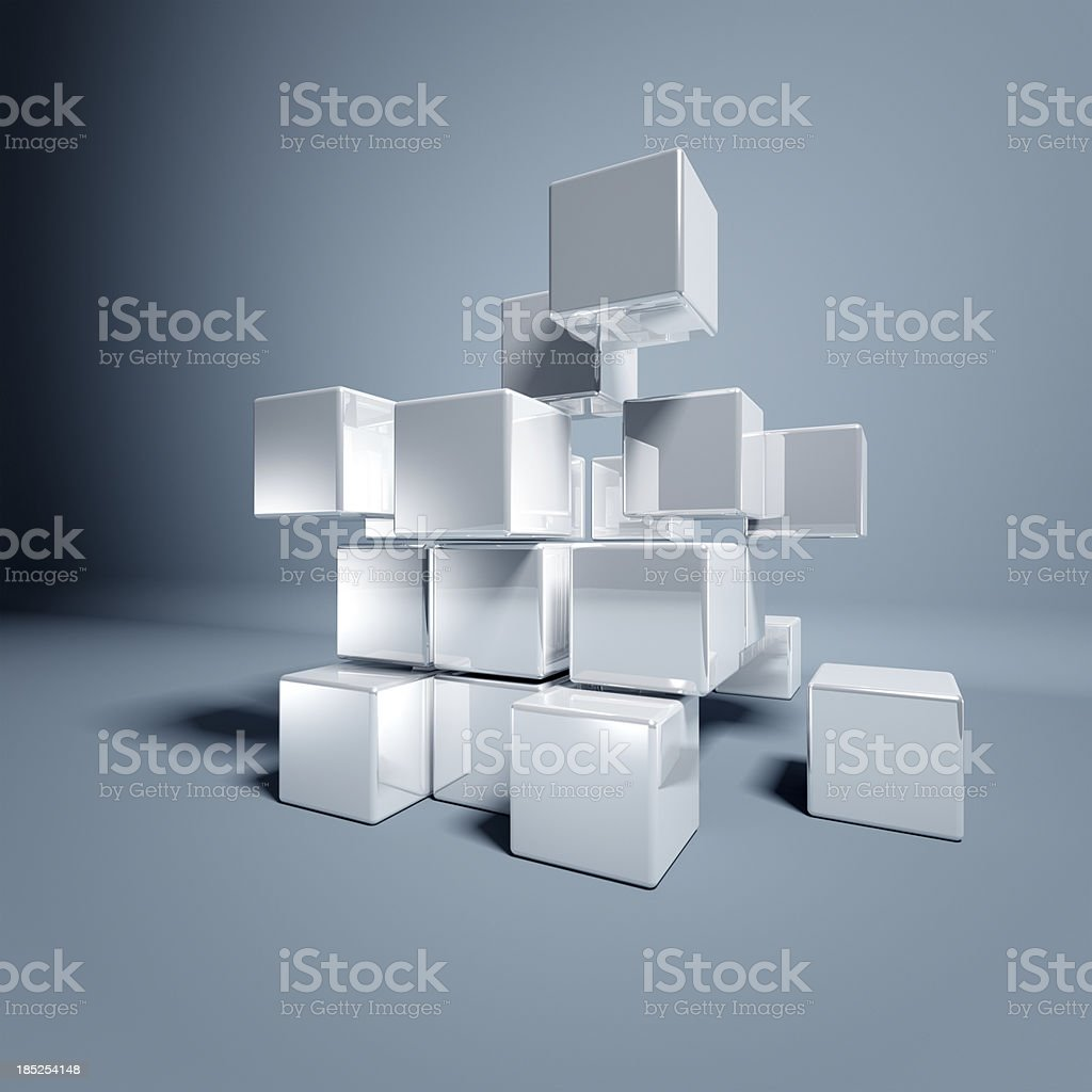 Blank 3d Cubes stock photo