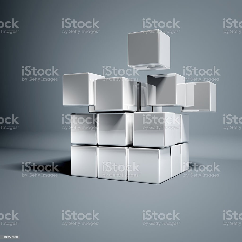 Blank 3d Cubes royalty-free stock photo