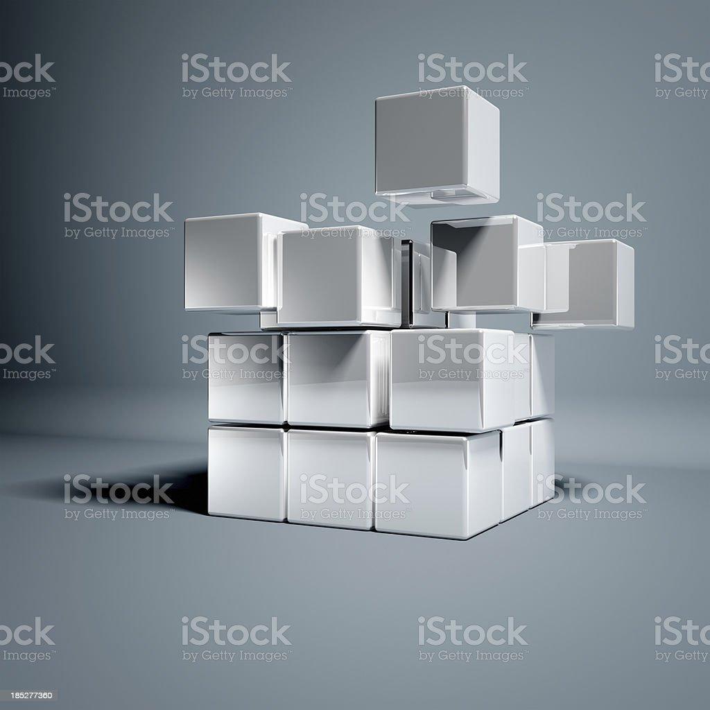 Blank 3d Cubes stock photo