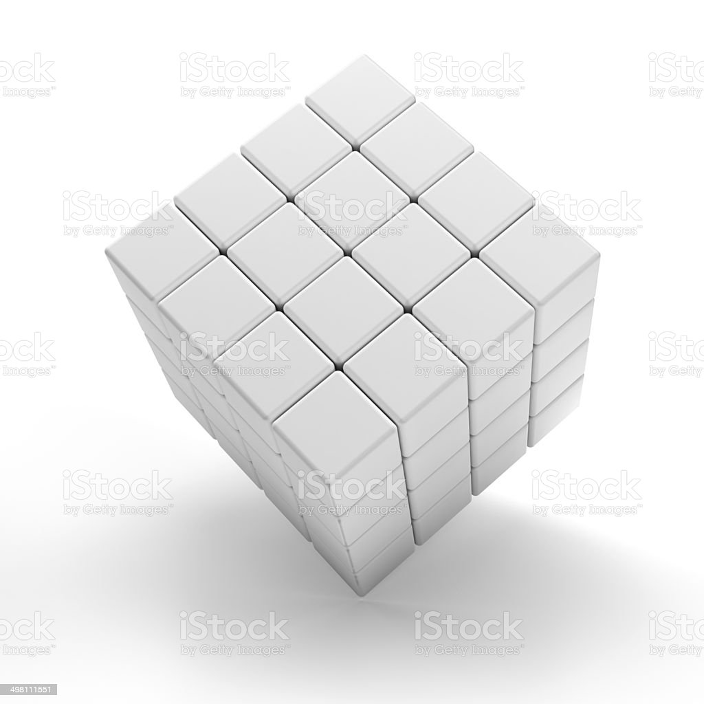Blank 3d cubes, with clipping path stock photo
