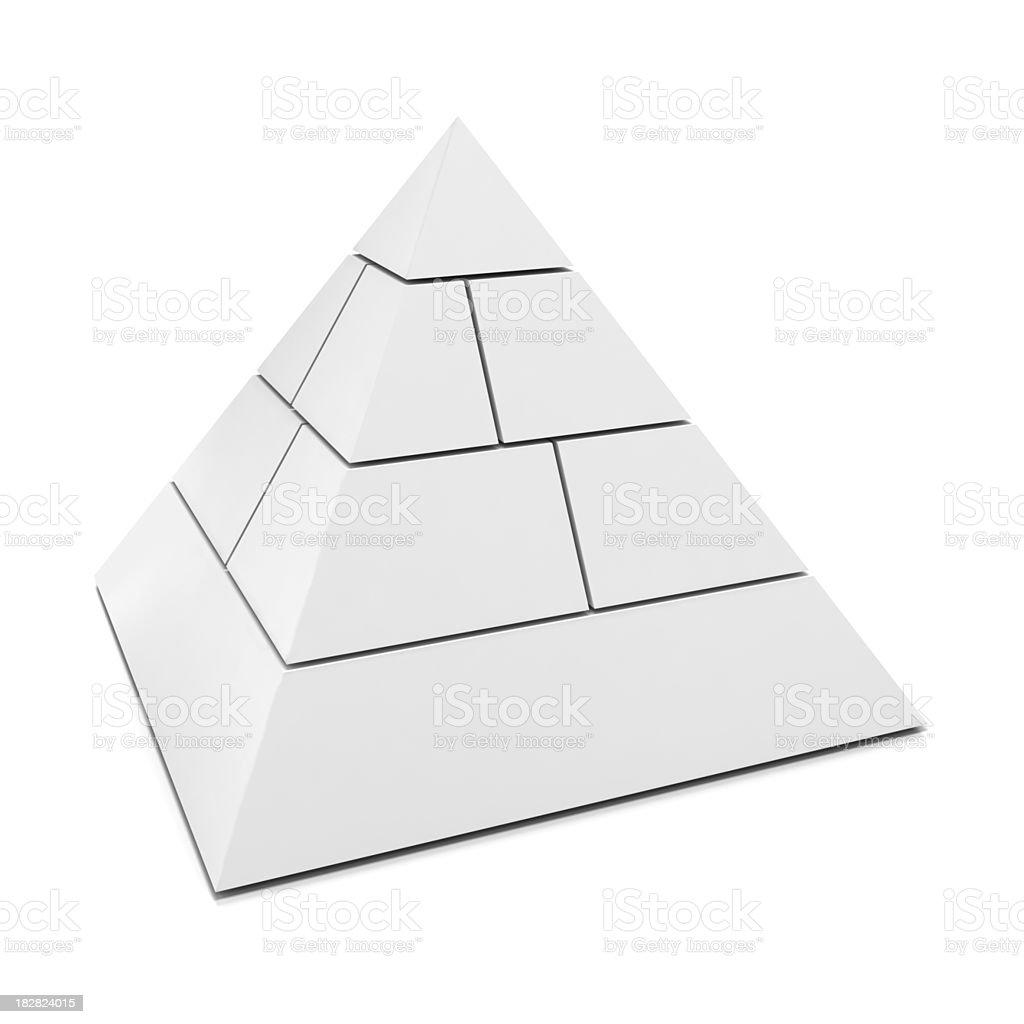Blank 3d pyramid royalty-free stock photo