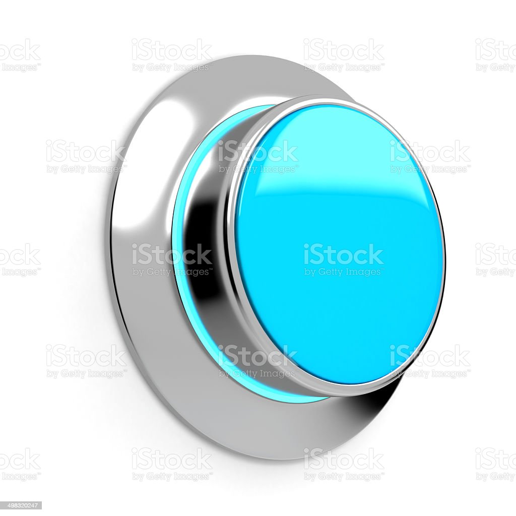 Blank abstract button. 3d render stock photo
